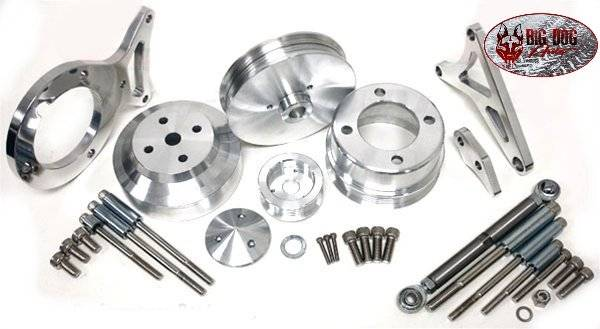 Complete Serpentine Pulley & Bracket Set for Ford 351