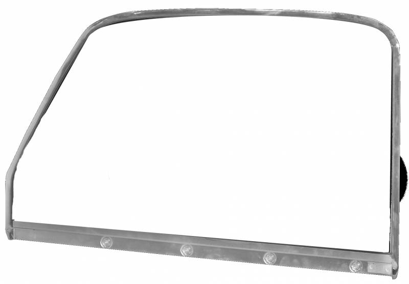 Door Glass W Chrome Trim For 1947 1950 Chevy Truck