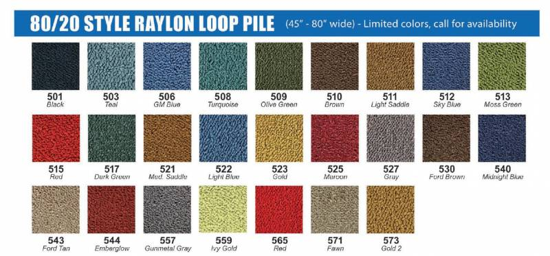 Molded Carpet for 1970 - 1974 Plymouth Duster, Your Choice
