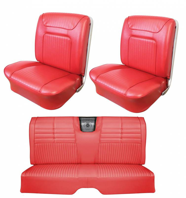 1964 Impala SS Front Bucket Rear Bench Seat Upholstery with