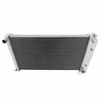 Champion Cooling Systems - Champion Four Row All Aluminum Radiator 1968-1985 GM, Chevy, Buick, Olds, Pontiac MC161