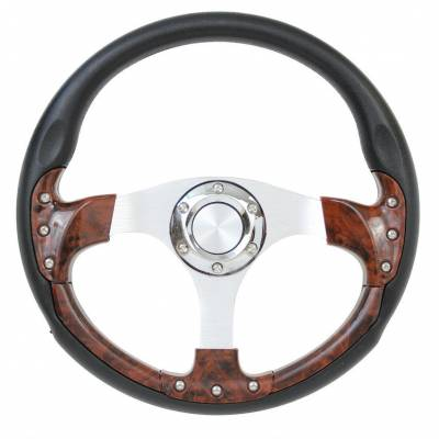 "Forever Sharp Steering Wheels - 14"" Burlwood Pursuit Classic I Performance Wheel"