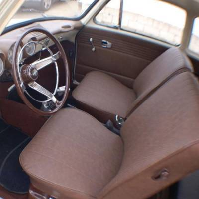 TMI Products - Front & Rear Cloth & Vinyl Seat Upholstery, 1961-74 VW Type III, Notchback & Fastback, W/Armrest