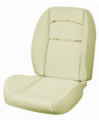 TMI Products - 1964 1/2-66 Mustang Front Bucket SeatDeluxe Pony Sport R Foam Seat Pad Set