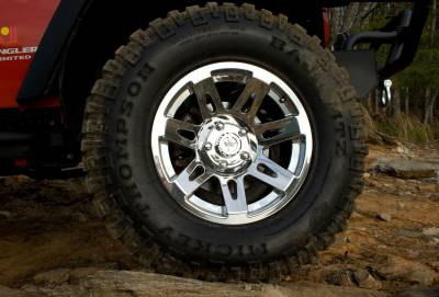 Rugged Ridge - Set of Four XHD Aluminum Wheels, Polished Chrome, 17 inch X 9 inches Fits 07 - 09 Wrangler