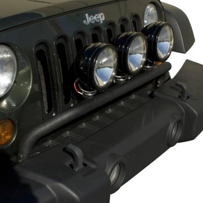 Rugged Ridge - Bumper Mounted Light Bar, Textured Black, 07-14 Jeep Wrangler (JK)