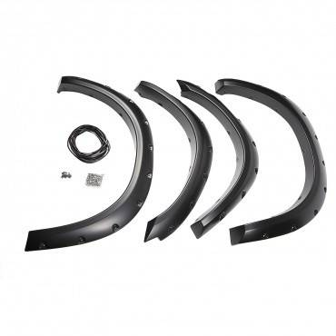 Rugged Ridge - Flat Flare and Fender Liner Kit, Fits 07-14 Jeep Wrangler