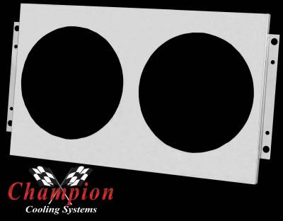 Champion Cooling Systems - Aluminum Fan Shroud FS161 plus two fans and relay kit