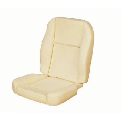 TMI Products - 1964 1/2-66 Mustang Front Bucket Seat Deluxe Pony Foam Seat Pad Set