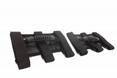 Rugged Ridge - Ultimate Grab Handles, Black; 55-16 Jeep CJ/Wrangler YJ/TJ/JK