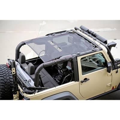 Rugged Ridge - Eclipse Sun Shade, Black, 2 Door; 07-16 Jeep Wrangler JK