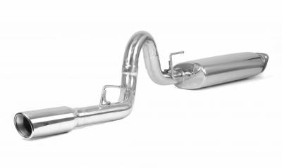 Rugged Ridge - Cat Back Exhaust System, Stainless Steel ; 00-06 Jeep Wrangler TJ