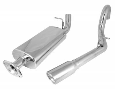 Rugged Ridge - Cat Back Exhaust System; 04-06 Jeep Wrangler Unlimited LJ