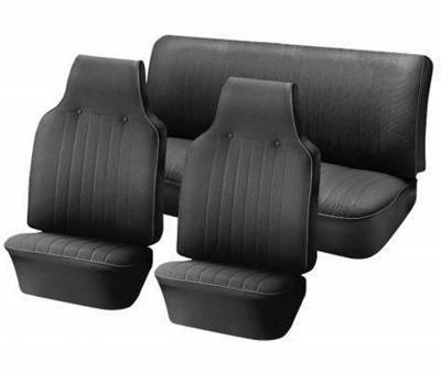 TMI Products - 1968-69 VW Volkswagen Bug Beetle Sedan Original Style Seat Upholstery, Front and Rear