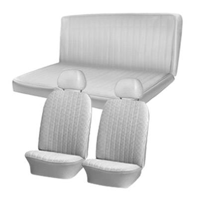 TMI Products - 1969 -71 VW Karmann Ghia Sedan Original Seat Upholstery, Front and Rear Seats