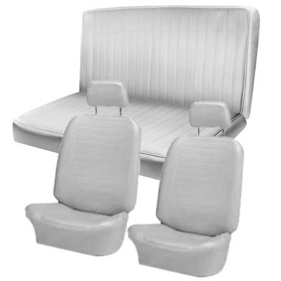 TMI Products - 1972 -74 VW Karmann Ghia Sedan Original Seat Upholstery, Front and Rear Seats