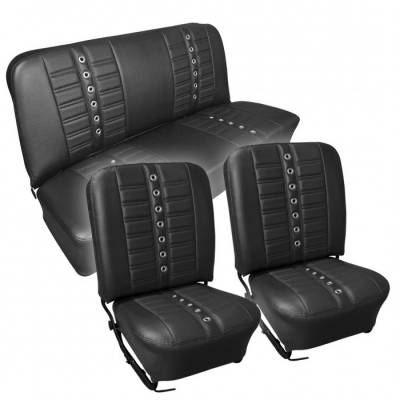 TMI Products - 1956-57 VW Volkswagen Bug Beetle Sedan Sport X Seat Upholstery, Front and Rear