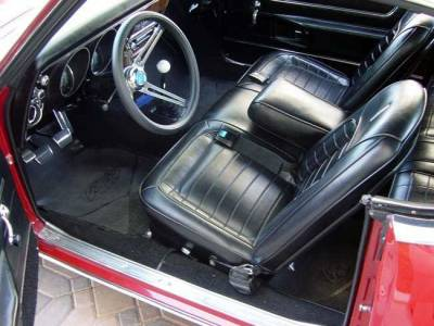 TMI Products - 1968 Camaro Deluxe Front and Rear Bench Seat Upholstery - Non-Folding Rear
