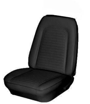 TMI Products - 1969 Camaro Standard Front Bucket and Rear Bench Seat Upholstery - Non-Folding Rear