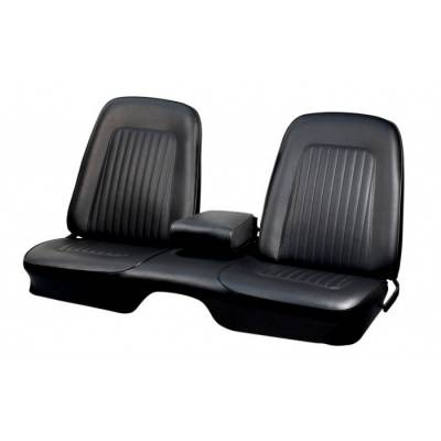TMI Products - 1967 - 1968 Camaro Convertible Front and Rear Bench Seat Upholstery - Folding Rear