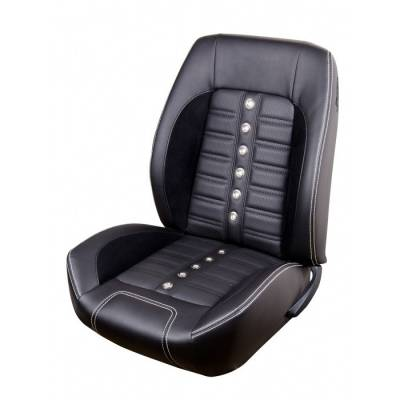 TMI Products - 1967 - 1968 Camaro Sport XR Premium Front Bucket and Rear Seat Upholstery, Non-Folding Rear