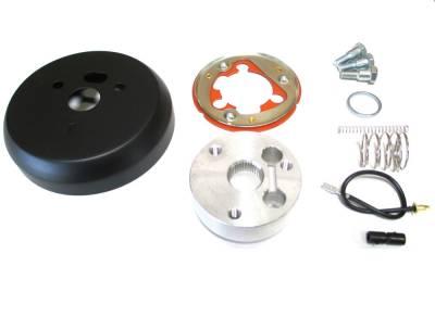 Forever Sharp - Three-hole Black Billet Steering Wheel Adapter