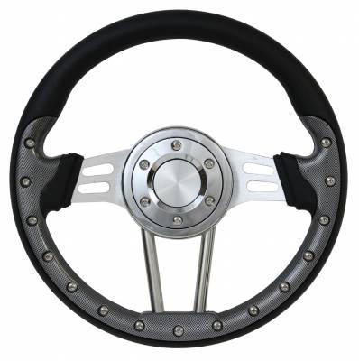 "Forever Sharp Steering Wheels - 13.5"" Dual Spoke Carbon Fiber Performance Steering Wheel"