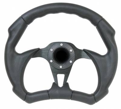 "Forever Sharp Steering Wheels - 12"" Black Out II D-Shape Performance Steering Wheel"