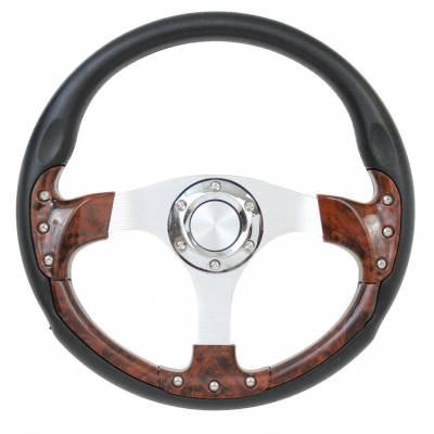 "Forever Sharp Steering Wheels - 14"" Burlwood Pursuit Classic I Performance Wheel"