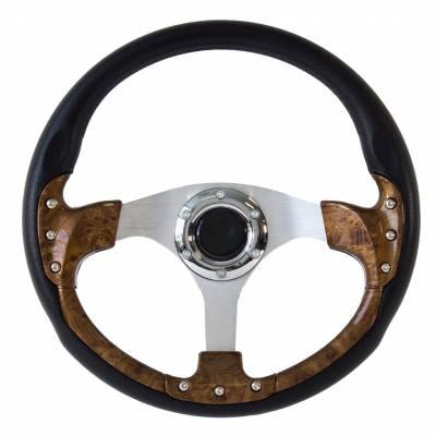 "Forever Sharp Steering Wheels - 14"" Burlwood Pursuit Classic I Performance Wheel (Light)"