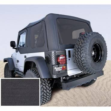 Rugged Ridge - XHD Soft Top, Black Denim, Tinted Windows; 97-06 Jeep Wrangler TJ