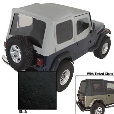Rugged Ridge - Soft Top, Door Skins, Black, Tinted Windows; 88-95 Jeep Wrangler YJ
