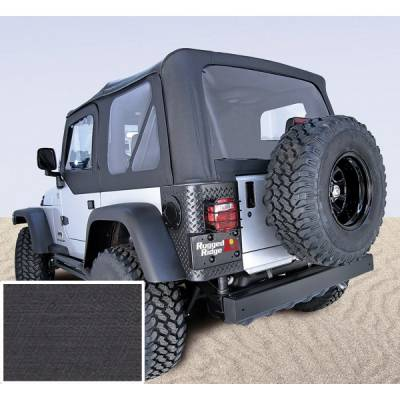 Rugged Ridge - Soft Top, Door Skins, Black, Clear Windows; 97-02 Jeep Wrangler TJ