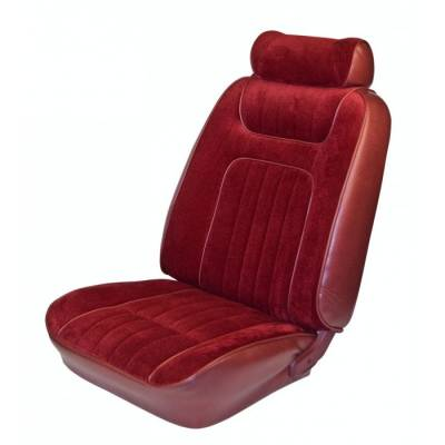 TMI Products - Lowback Seat Upholstery for 1979 - 1980 Mustang Ghia Coupe or Hatchback Front/Rear