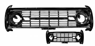 Dynacorn - Grille for 1969 - 1977 Ford Bronco - Painted