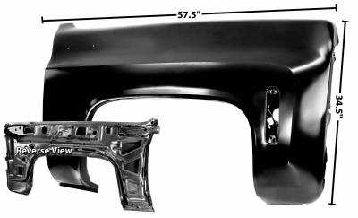Dynacorn - Replacement Front Fender, Right or Left Hand, 1973 - 1980 Chevy Truck