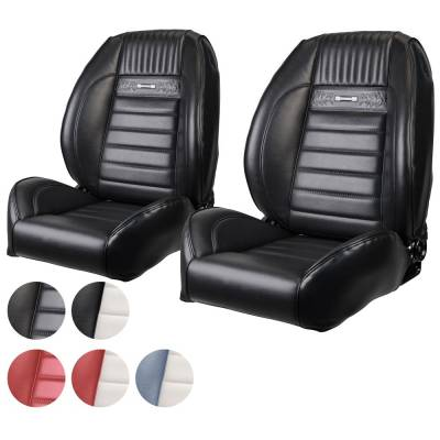 TMI Products - 1964 - 66 Mustang OEM PONY Style Deluxe Sport II Pro Series Seats by TMI