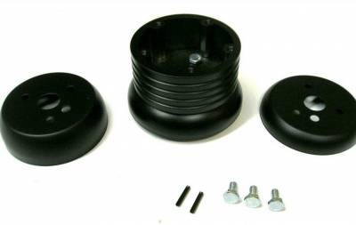 Forever Sharp - Black Billet Five or Six Hole Steering Wheel Adapter Fits Many Models w/Shipping to Great Britain