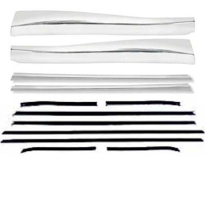 OER - *R683 - 1968 Camaro Deluxe Convertible Outer Door/Quarter Reveal Molding Kit with OE Style Windowfelt Set