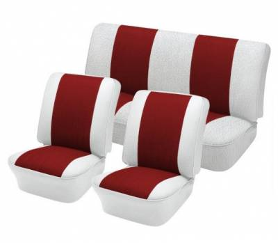 """TMI Products - Front & Rear 12"""" Insert Upholstery, 1961-74 VW Type III, Notchback & Fastback, W/Armrest"""