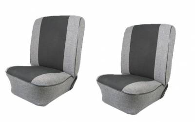 """TMI Products - Front & Rear Cloth 12"""" Insert Upholstery, 1961-74 VW Type III, Notchback & Fastback, W/Armrest"""
