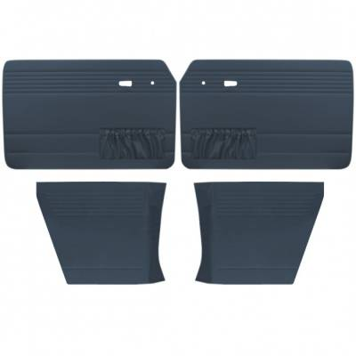 TMI Products - Door Panel Set for 1961 - 74 Type III Notchback, Velour, With or Without Pockets - 4 pc. Set