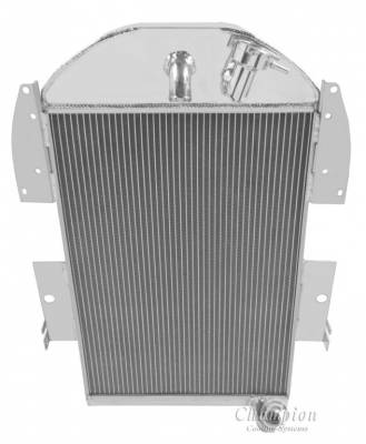 Champion Cooling Systems - 1934-1936 Chevy Pick Up Truck w/Inline Six Champion Three Row Radiator CC3436