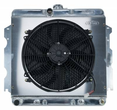 Cold Case - 62-74 A,B,C,E Body SB Aluminum Performance Radiator And 16 Inch Fan Kit AT 18x22 Inch Cold Case Radiators
