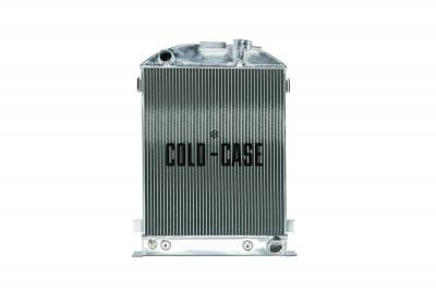 Cold Case - 1932 Highboy Chevy Engine 25.5 Inch Aluminum Performance Radiator Cold Case Radiators