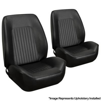 """TMI Products - 1967 - 1968 Camaro Sport II Seat Front Bucket and 53"""" Rear Bench Seat Upholstery (fits Coupe)"""