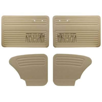 TMI Products - 1965 -1966 Volkswagenbug Sedan Authentic Style Door Panels - Full Set w/Pocket
