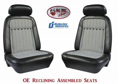 Distinctive Industries - 1969 Camaro Deluxe Houndstooth OE Reclining Front Bucket Seats