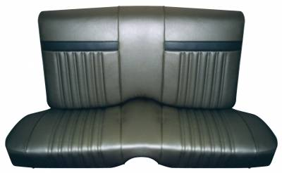 Distinctive Industries - 1968 Cougar Hardtop Front/Rear Bench Seat Upholstery - Decor Style