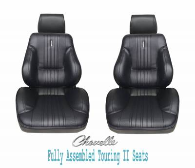 Distinctive Industries - 1970 Chevelle Touring II Front Bucket Seats Assembled w/Rear Seat Upholstery (Coupe)